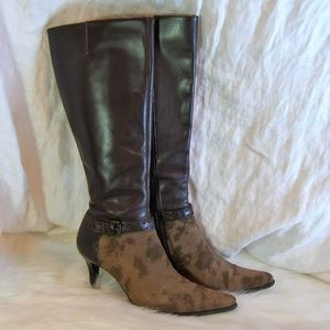FRANCO SARTO 7 SUEDE & LEATHER DESIGNER BOOTS